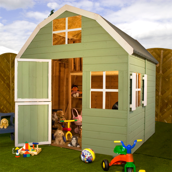 Garden sheds log cabins summerhouses playhouses fence for Dutch playhouse
