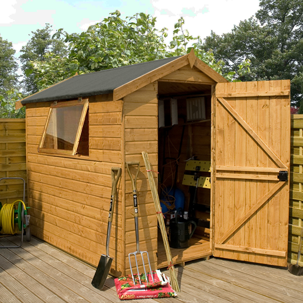 Garden sheds log cabins summerhouses playhouses fence for Garden shed security