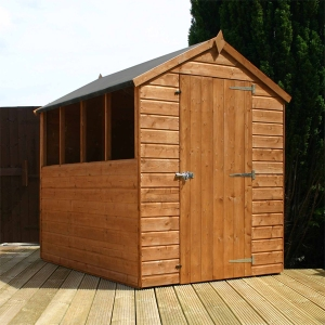 Wooden Apex Garden Shed with Windows