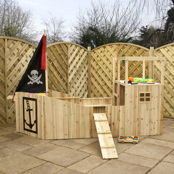 outdoor pirate ship playhouse plans