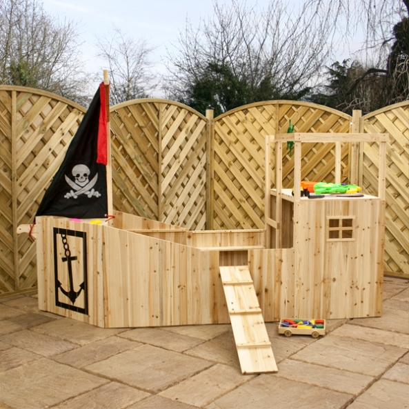 Backyard pirate ship playhouse plans free download small for Boat playhouse plans