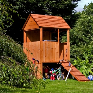Tower Style Wooden Playhouse.