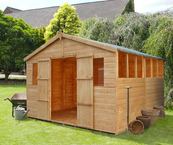wooden storage building plans
