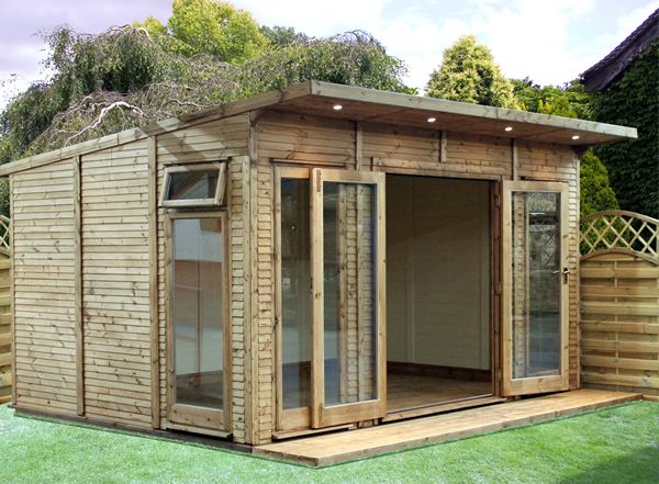 Cheap wood sheds insulated storage shed plans fine for Cheap garden office buildings
